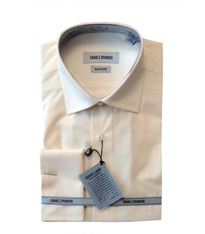 Сорочка кремовая под запонку