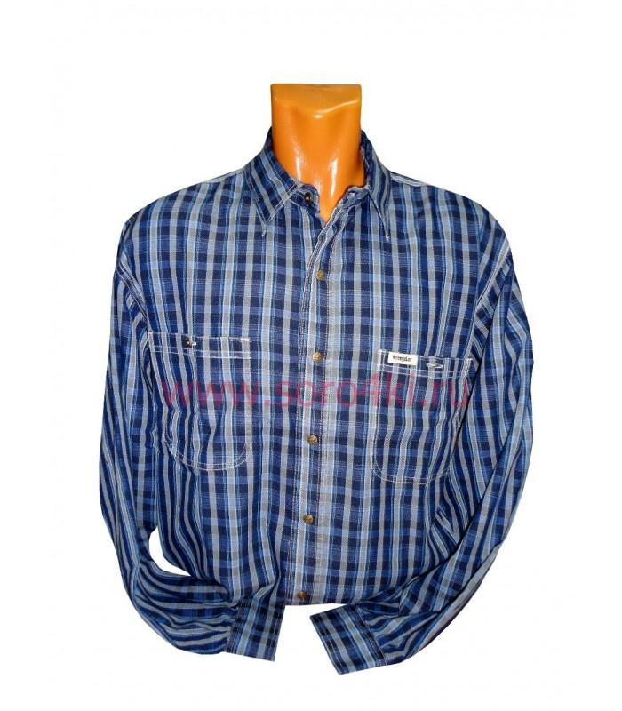 Рубашка джинсовая на кнопках