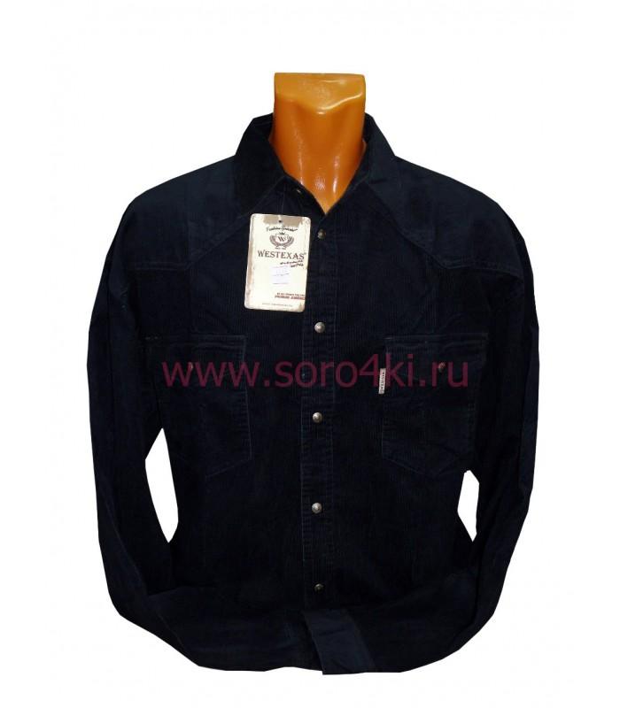 Рубашка вельветовая на кнопках