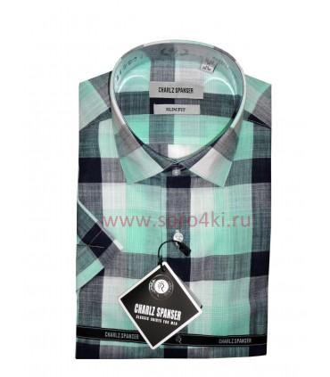 Charlz Spanser рубашка из хлопка