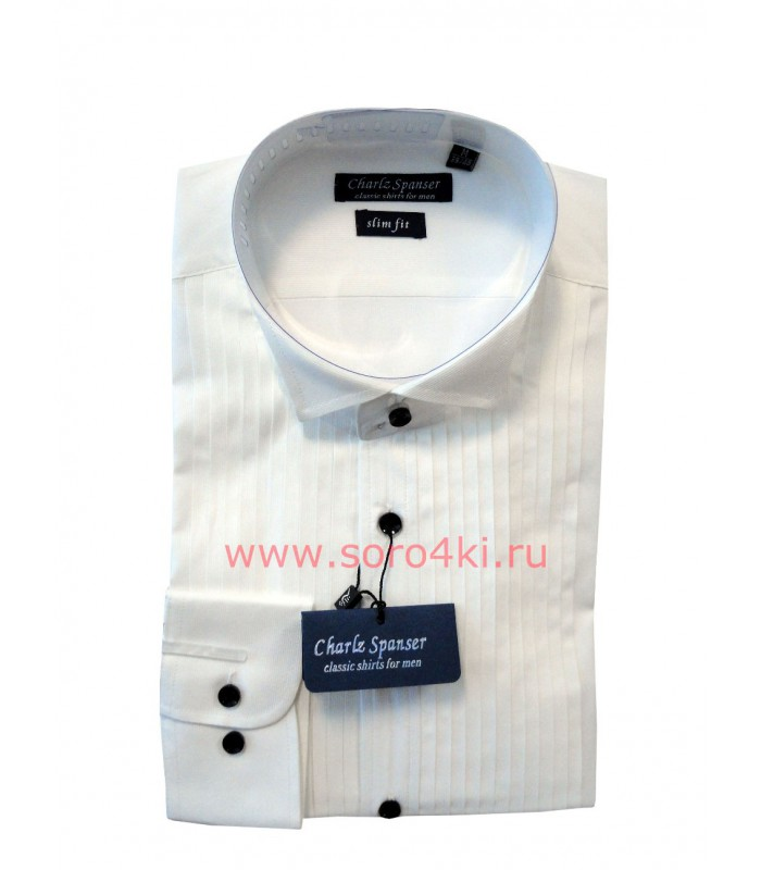 Рубашка с манишкой оттенка айвори