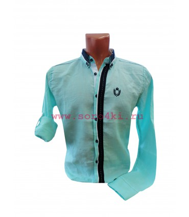 Рубашка с подворачиваемыми рукавами