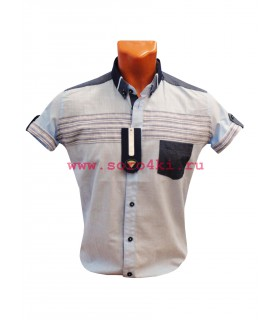 Хлопковая, приталенная рубашка