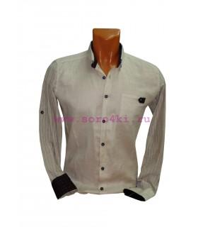 Хлопковая молодежная рубашка