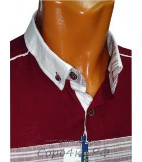 Бордовая хлопковая рубашка