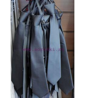 Школьный галстук (светло-серый)
