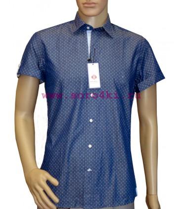 Джинсовая приталенная рубашка