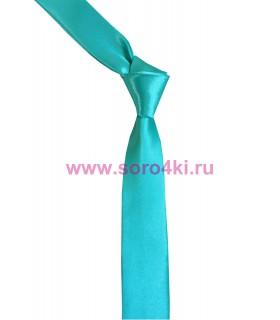 Бирюзовый узкий галстук