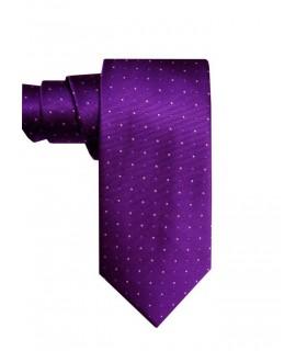 Фиолетовый галстук в крапинку