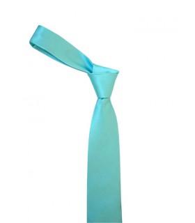 Бирюзовый фактурный галстук