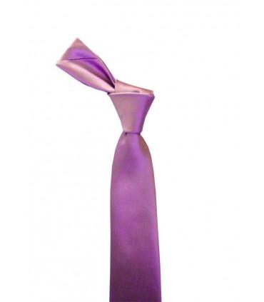 Сиреневый атласный галстук