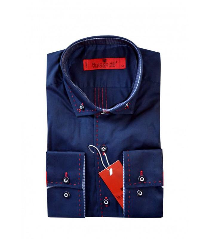 Рубашка с красной строчкой