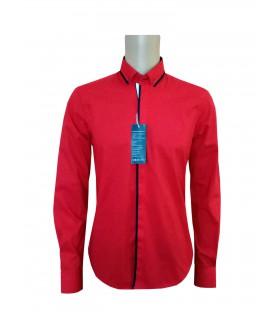 Красная хлопковая рубашка