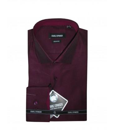 Бордовая рубашка Charlz Spanser