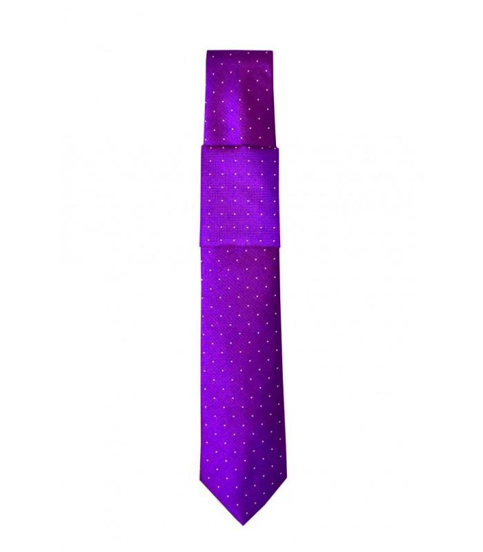 Фиолетовый галстук и платок
