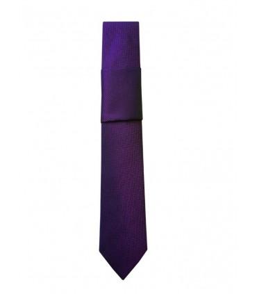 Галстук темно-фиолетовый и платок