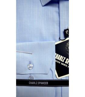 Голубая рубашка в клеточку
