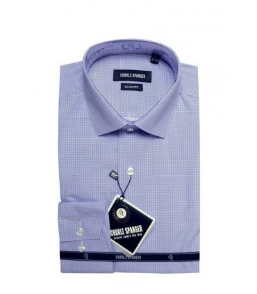 Рубашка в белую клетку