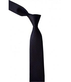 Черный галстук в крапинку