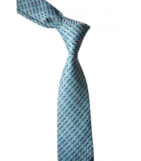 Голубой фактурный галстук