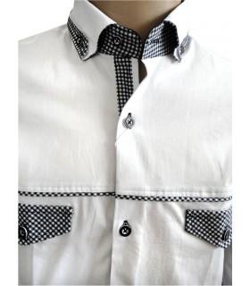 Рубашка с подвернутым воротом