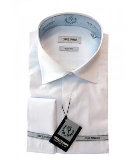 Сорочка белая под запонку