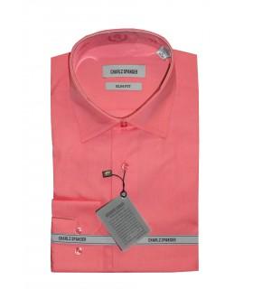 Сорочка ярко-розовая